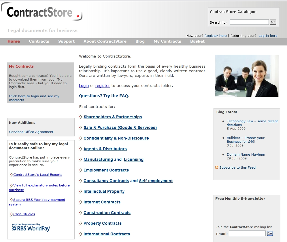 Website Legal Stuff from ContractStore