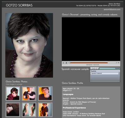 Gotzo Sorribas Website