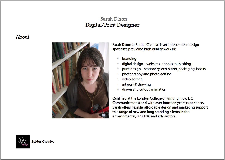 Sarah Dixon - Digital Design