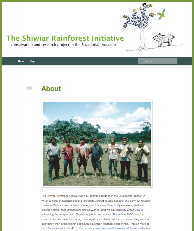 Shiwiar Rainforest Initiative 2000