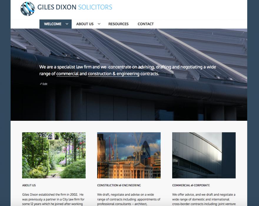 Giles Dixon Website