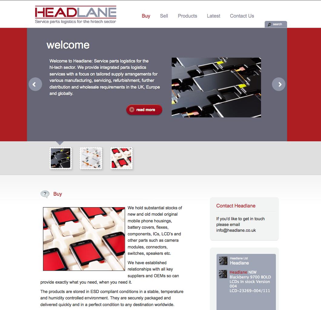 Headlane website in WordPress