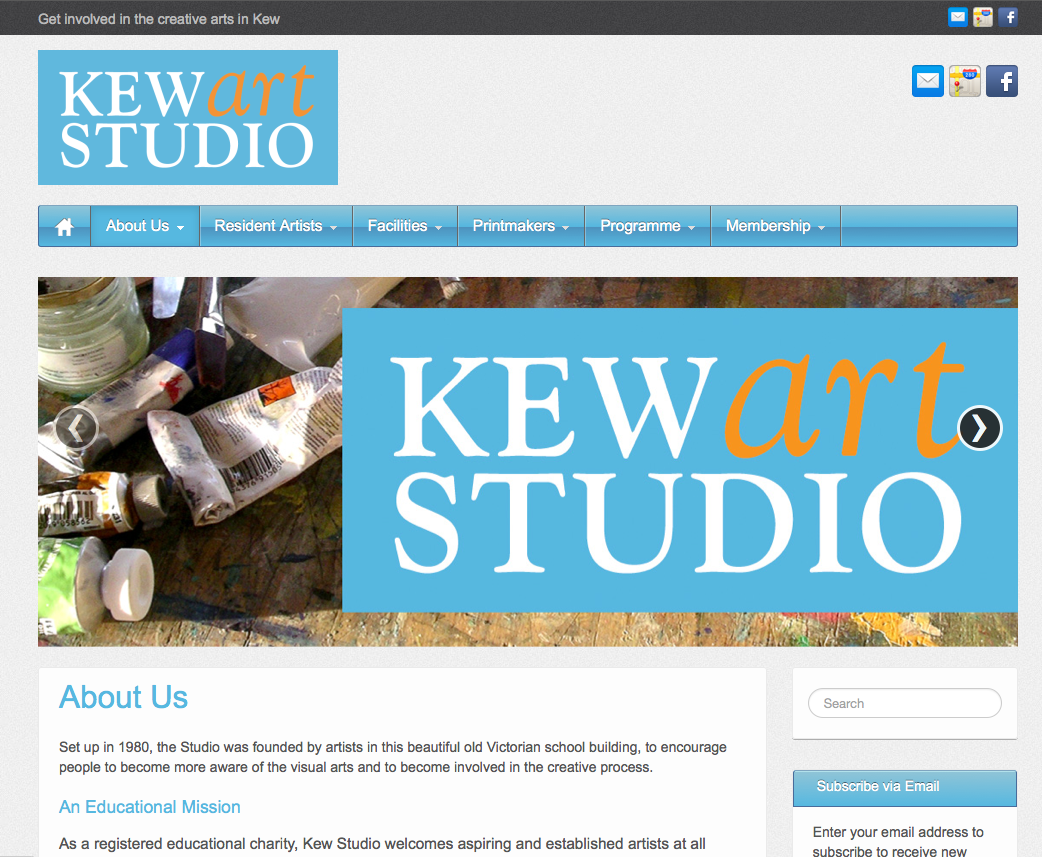 A new website for arts and education charity in west London
