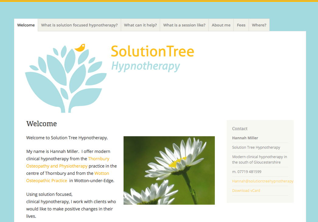 Solution Tree Hypnotherapy website and branding