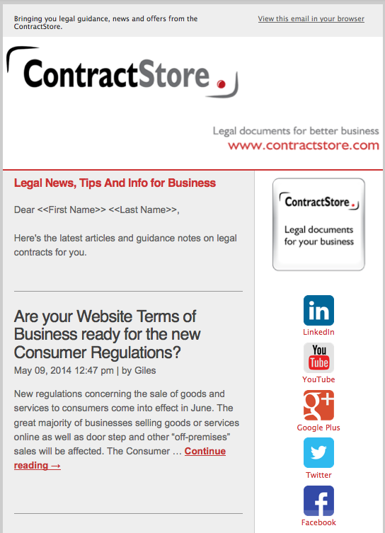 ContractStore Email Newsletter